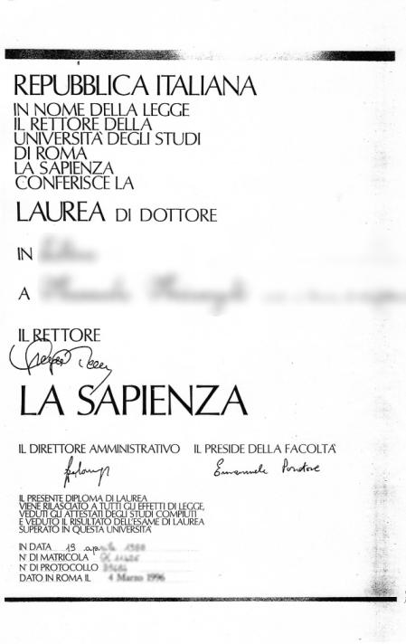 Traduzione Titoli Di Studio Diploma Laurea E Certificati